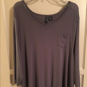 Cynthia Rowley 3x women's tunic tee t-shirt grey.